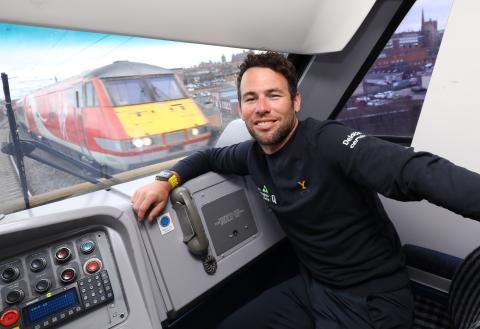 'Cav' catches Virgin Trains' cab to Tour de Yorkshire launch