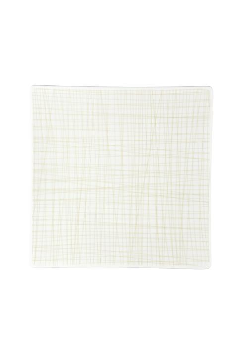 R_Mesh_Line Cream_Plate 27 cm square flat
