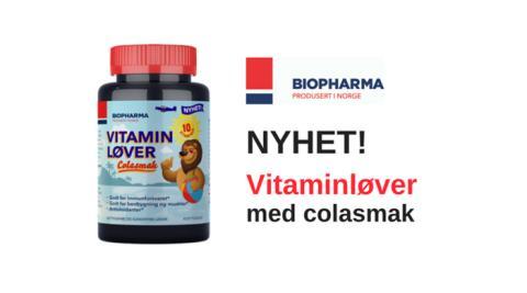 Nye vitaminløver med colasmak