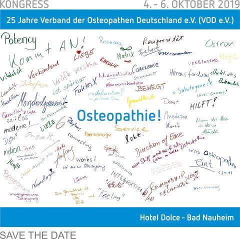 Osteopathie: Jubiläumskongress 2019 - 25 Jahre VOD