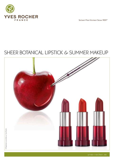 Pressinformation om Sheer Botanical Lipstick