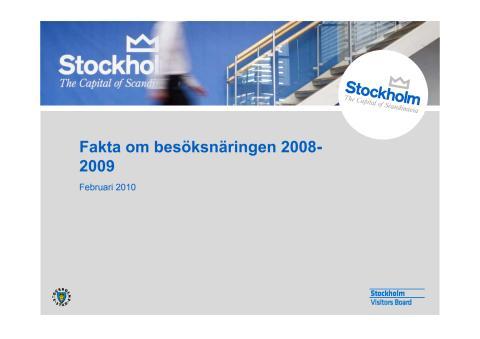 Fakta och statistik om besöksnäringen i Stockholm 2009