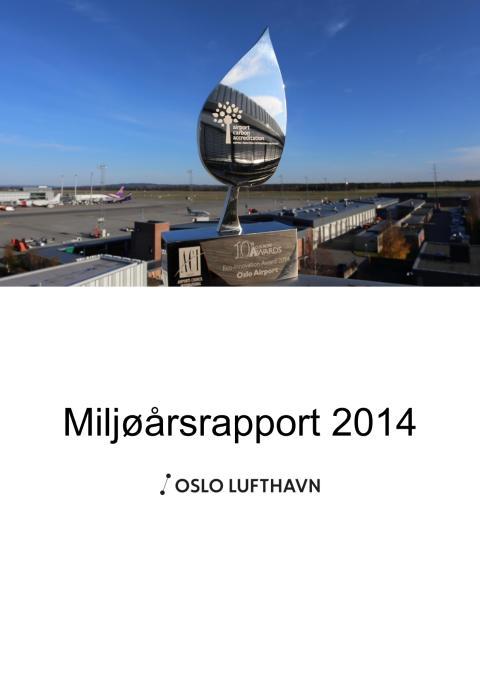 Miljøårsrapport Oslo Lufthavn 2014