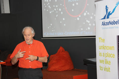 Harry Kroto, Nobel Price Winner in chemistry 1996, gives lecture in Nacka