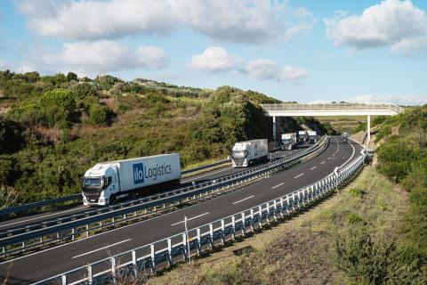 LNG-Lkw auf Autobahn