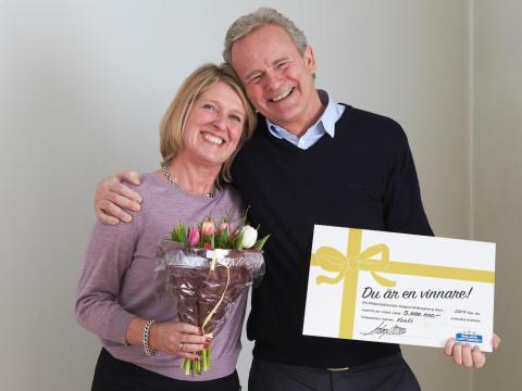 Kenth från Järfälla vann 5 miljoner på skraplott från Miljonlotteriet