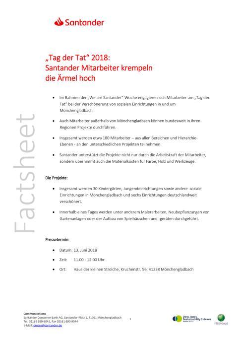 """Factsheet """"Tag der Tat"""" 2018"""