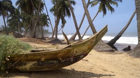 Nydelige strender i Ghana