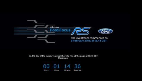 Se med når Ford afslører ny Focus RS live kl 13.45
