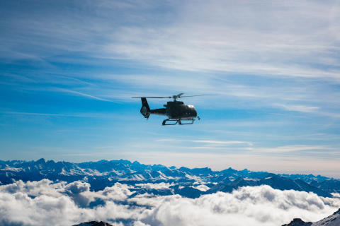 White Turf und Ski WM in St. Moritz Per Helikopter