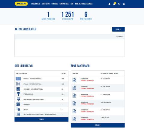 Ramirent lanserer ny kundeportal