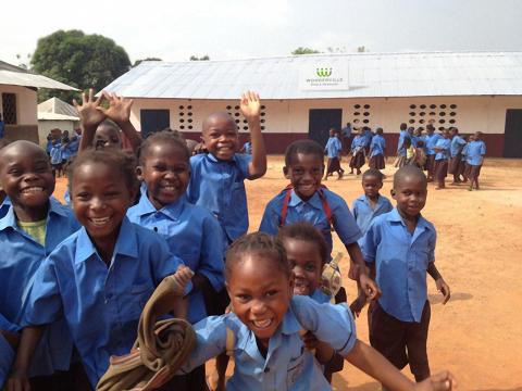 Wondervilles skola i Afrika