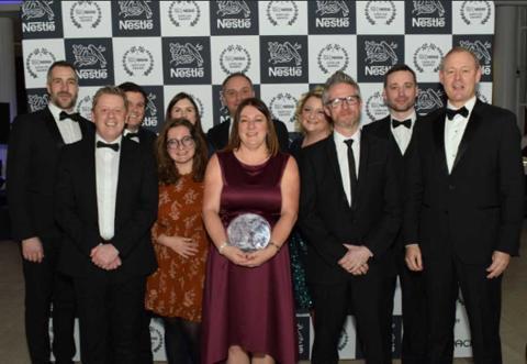 Smurfit Kappas sterke posisjon innen bærekraft resulterte i prisdryss på Nestlé Supplier Awards-prisutdelingen
