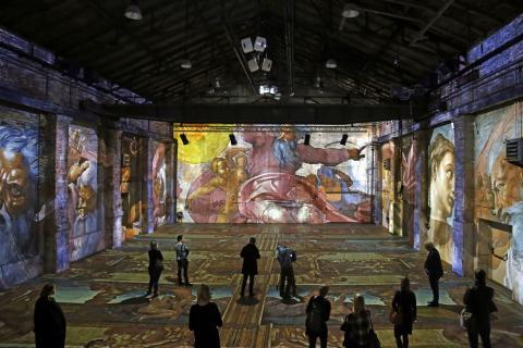 """Blick in die Ausstellung """"Leonardo da Vinci- Raffael- Michelangelo. Giganten der Renaissance"""" (1)"""