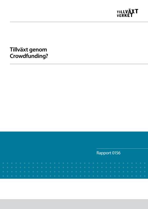 Rapport - Tillväxt genom crowdfunding?
