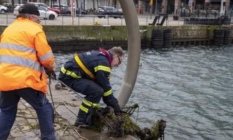 Här är brandmännen som räddar havet