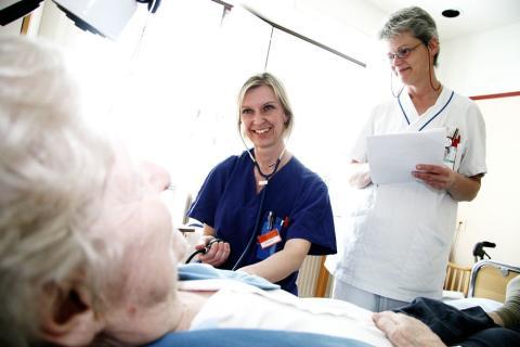 Studenter hade huvudrollen på Sjuksköterskedagen