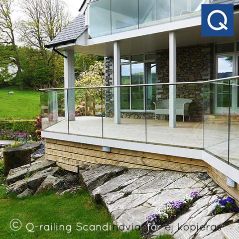 Glasräcken för altan, veranda och balkong