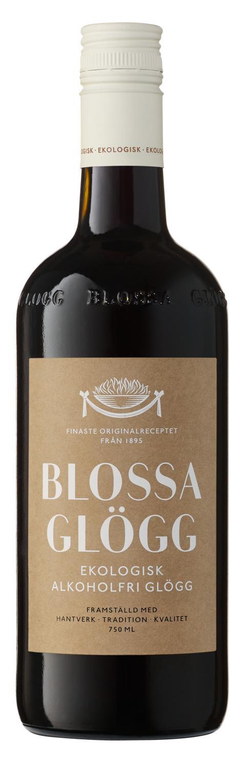 Blossa Alkoholfri Glögg Eko, flaskbild