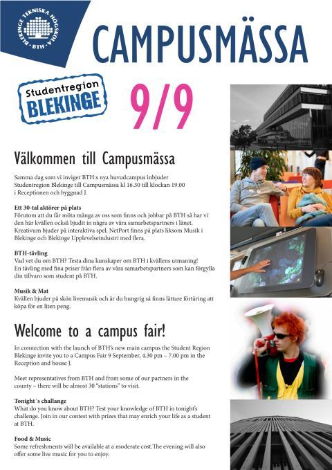 Bilaga C - Information om studentregion Blekinges Campusmässa den 9 september