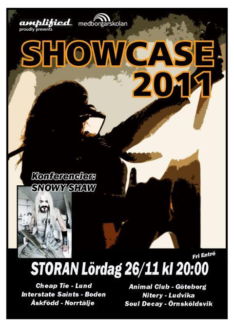 Affisch Showcase 2011