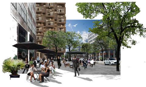 Humlegården deltar vid invigningen av Norra Stationsgatan