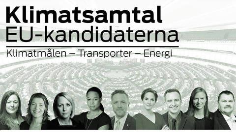 Pressinbjudan: Klimatdebatt med EU-kandidaterna i morgon torsdag 08:00-12:00