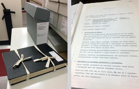 Statoils første styreprotokoll – Norges Dokumentarv