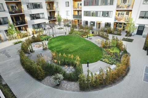 Bostadsgård i Annedal, Stockholm