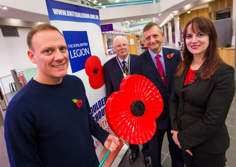 Street star supports Rochdale's Poppy Appeal launch
