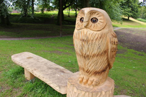 The owl bench