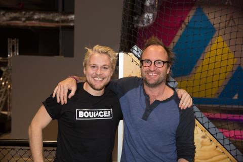 Shaun Wood och BOUNCE grundaren Ant Morell