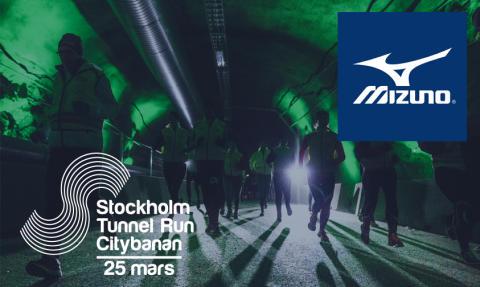 Mizuno Corporation Sweden blir officiell leverantör av skor  till Stockholm Tunnel Run Citybanan 2017