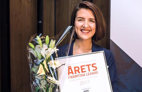 Johanna Öhlin vinner Årets framtida ledare 2017