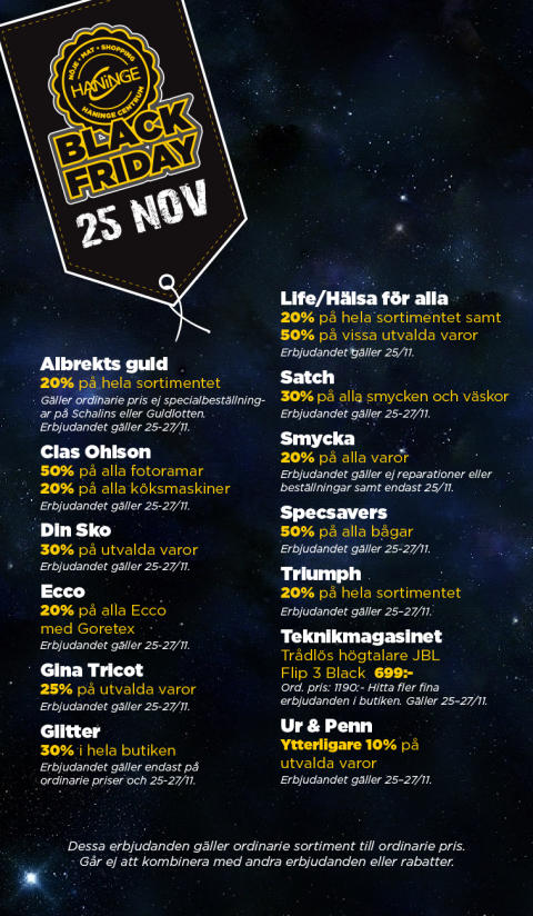 Black Friday i Haninge Centrum