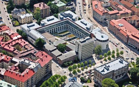 Flygbild Handelshögskolan, Göteborg