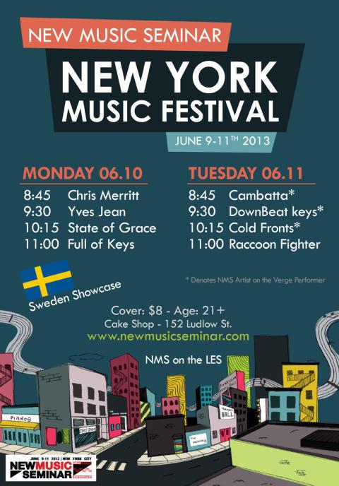 Musichelp anordnar svensk showcase på New Music Seminar i New York