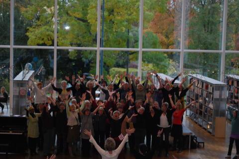 Kördag på Stadsbiblioteket 24 oktober kl 11.15 – 16.00