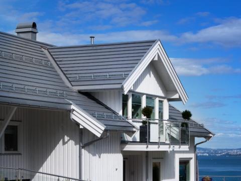 Flat takstein for moderne arkitektur