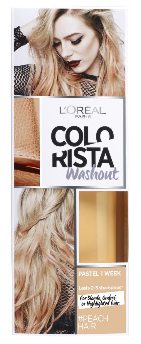 L'Oréal Paris Colorista Wash Out #Peachhair väliaikainen poispestävä hiusväri