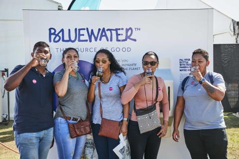 Bluewater helps Cape Town soccer finals to save water and single-use plastics