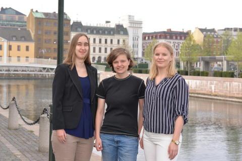 Lina Grip, Lisa Pedersen och Amanda Möller