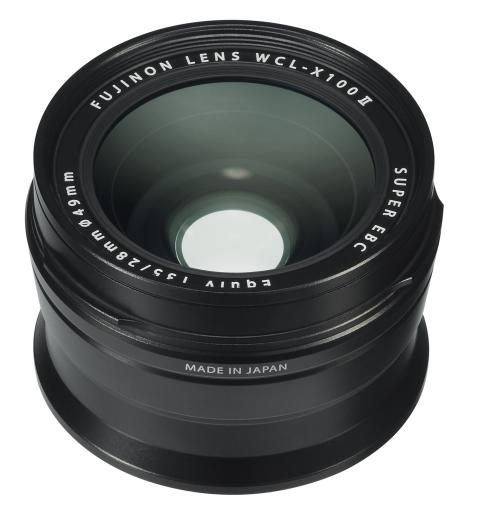X100F Wide Conversion Lens II Black