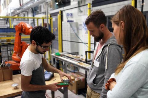 Fransk student presenterade nya lösningar åt företag