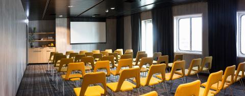 Sneak peek på nytt konferenscenter på Stena Saga 2019