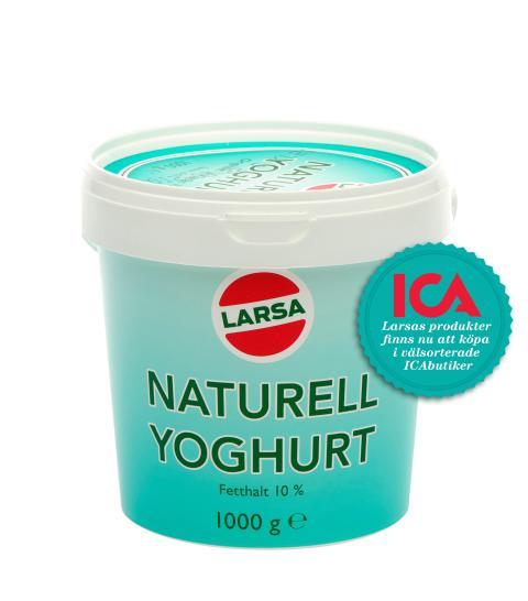 Larsa yoghurt hittar du i alla välstorderade ICAbutiker
