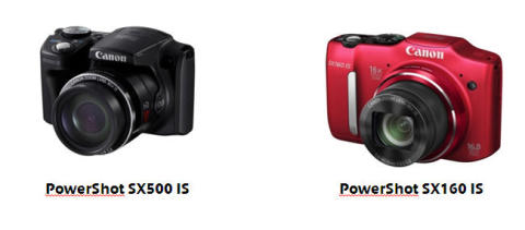 Canon bild release PS SX500 IS & PS SX160 IS