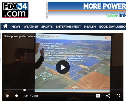 Solar Power Push by Fox 34
