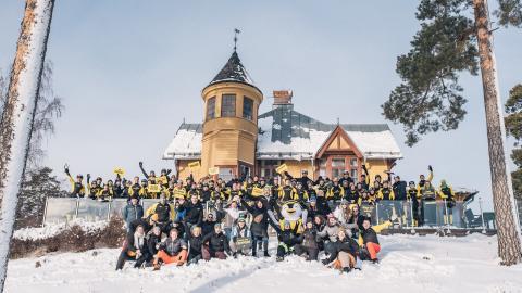 Skate4Air lockar holländska skridskoåkare till Falun