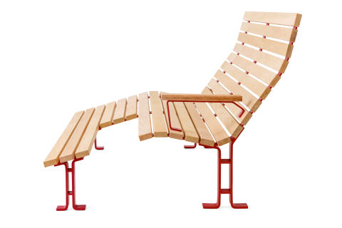 Kajen solsoffa, design Thomas Bernstrand